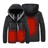 30-50 ℃ Electric Hooded Heated Coat USB Winter Heating Jacket Temperature Control