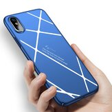 Stripped Lines Pattern Micro Matte Anti Fingerprint Case For iPhone X