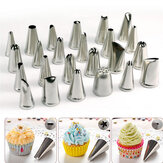 Honana CF-PT02 24Pcs Flower Pastry Cake Icing Piping Nozzle Conseils de décoration Cake Baking Tools
