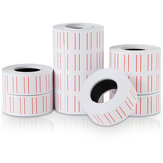 Deli 10 Rolls Price Labels Paper Single Row White Tag Paper Supermarket Grocery Shop Paper Stickers for Label Printer 3210