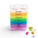KCASA KC-JS0703 Portable Pill Case Organizer Weekly Travel Medicine Box Tabletki etui