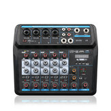 WENYANWEN Mini 4 Channel USB Delay and Repeat Efferts Audio Mixer Console With Bluetooth