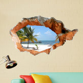 3D Pantai Dinding Decals 38 Inch Removable Sea Wall Art Stiker Dekorasi Rumah