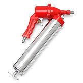 Manual One-Hand Grip Air Pneumatic Compressor Pump Grease Gun Red