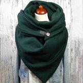 Женский хлопок Plus Толстый сохраняет тепло зимой На открытом воздухе Повседневный однотонный многоцелевой шарф-шаль