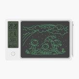 NEWYES 9.5 İnç LCD Yazma Tableti Hava Yastığı Doğru Sıcaklık Nem Sensör Takvim Alarmı Saat Taşınabilir ve Dayanıklı Dijital Çizim Tahtası Okul Bussiness Çocuk Yazı Pedi