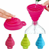 Silicone Collapsible Mini Filling Liquid Oil Water Funnel Kitchen Tools Filter