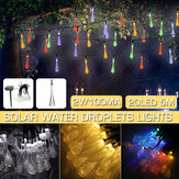 16.4FT 5M 20LED Solar Outdoor String Light Two Modes Water Drop Fairy Lamp Garden Christmas Decoration