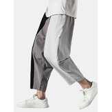Harem casual con coulisse patchwork uomo Pantaloni con tasca