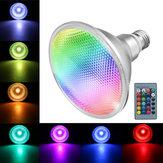 E27 10W COB PAR38 الأضواء RGB تغيير لون ضوء LED مصباح لمبة التحكم عن بعد AC85-265V