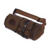 Men's Canvas Crossbody Bag Vintage Style Waist Pocket