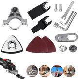 Meuleuse d'angle changée en outil oscillant universel accessoire de scie multiple pour la coupe, le polissage, le pelletage, le nettoyage