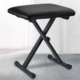 Tamborete de piano portátil ajustável 3 vias teclado dobrável assento banco cadeira almofada
