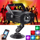 Sound Active Water Wave RGB 7 Color LED Laser Projector Stage Light DJ Disco Party