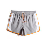 Mens Patchwork Quick Dry Drawstring Waist Beach Holiday Loose Board Shorts
