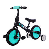 STCRATCK 4 In 1 12 inch Kid Balance Bike Children Tricycle with Auxiliary Wheel No Pedal Scoot Bike For Junior Walker Beginner Rider Training for 1-6 Years Old