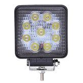 12V 27W Cuadrada LED Luz de Inundación de Trabajo Camión ATV Barco 4x4 Luz de Carretera