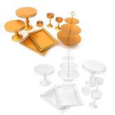 Hochzeitstorte Stand Crystal Decor liefert Metall Cupcake Halter Kristallplatten Set