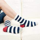 Высокая трубка законодателем полосатые носки многоцветной мужчин женщин вскользь дышащий хлопок носки