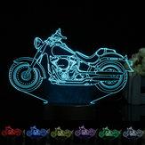 3d الوهم دراجة نارية ليد مكتب مصباح 7 لون تغيير اللمس التبديل ضوء الليل