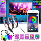 1M / 2M / 3M / 4M / 5M RGB LED Luz de tira IP65 Waterproof Bluetooth Control 5050 USB Bar TV Backlight