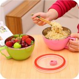 1 Pc Stainless Steel Anti-Scalding Bowl Lunch Box