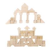 162 Adet Ahşap Bloklar Eğitim Çocuk Öğrenme Öğrenme Classic Bilmecenin Oyuncak