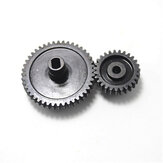 2Pcs/set Decelerate Steel Gear+Motor Gear For Wltoys 144001 124018 124019 RC Car Parts