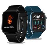 TICWRIS GTS Control de temperatura corporal Salud Reloj inteligente Oxígeno en sangre Monitor Pulsera IP68 de larga espera