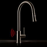 Diiib Brand Antibacterial Induction Automatic Sensor Stainless Steel  Kitchen Basin Sink Touchless Handsfree Faucet  Cold Hot Water Mixer Pull Out Tap From Xiaomi Youpin