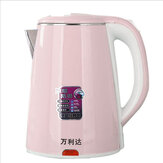 Wanglida WLD-16 1.8L Electric Kettle 1000W Double Layer Heat Insulation Stainless Steel Material Prevent Dry Burning for Household