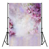 5x7ft Vinyl Dreamlike Purple Flowers Photography Backgrounds Photo Shoot Backdrop