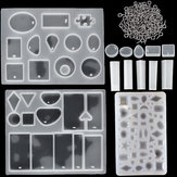 113pcs fai da te resina resina stampaggio ciondolo stampi monili che fanno Silicone kit di artigianato