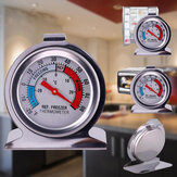 Refrigerator Freezer Thermometer Stainless Steel Dial Dail Type Fridge Temperature Warehouse Supermarket -30-30 Degrees