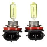 ペアH11キセノンハロゲンHID輝度クラスライト電球黄金黄色1200LM