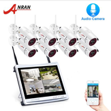 ANRAN 1080P 8CH Wireless Audio Record Surveillance Camera System IP Camera Outdoor Night Vision CCTV Security Camera System