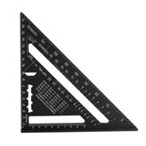 7/12 Inch Metric Inch Aluminum Triangle Ruler 90 Degree Wood Angle Ruler
