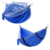 2 People Outdoor Camping Nylon Strong Hammock W Mosquito Net Travel Portable Backpack Hammock Max Load 400KG