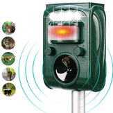 KCASA KC-501 Jardim Solar Powered Ultrasonic Animal Ao Ar Livre Repeller Movimento Sensor Flash Luz Cachorro Gato Guaxinim Coelho Animal Dispeller