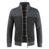 Men's Cardigan Sweaters New Knit Loose Casual Thicken Winter Autumn Warm Zip Jacket Camping Hiking