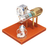 熱い空気のスターリングエンジンのモデル科学玩具の物理的原理金属模型のおもちゃ