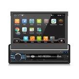 YUEHOO YH-214 7 İnç 1 DIN Android 10.0 Araba DVD Oynatıcı Geri Çekilebilir Dokunmatik Ekran Stereo Radyo 8 Çekirdek 1 + 32G / 2 + 32G WIFI 4G