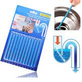 Honana BC-101 Pau de Desodorante de Pia 12 Pçs Cojunto de Desodorante de Esgoto Limpeza Mágica para Limpeza de Banheiro