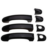 7pcs Set Gloss Black Door Handle Covers Handles For VW Transporter T5 T6