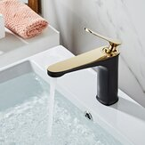 Luxury Bathroom Basin Faucet Hot Cold Water Mixer Sink Tap Gold Polished Handle Single Handle Brass Faucet