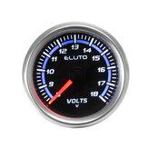 """Voltímetro universal para carro de 2 """"52 mm e medidor de voltagem medidor de tensão 8-18 V LED"""