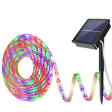 Solar Power RGB Light Strip 2835 LED IP65 Waterproof Outdoor Garden Home Decor