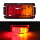10V-30V 12V/24V 8 LED Trailer Truck Side Marker Light Clearance Lamp Turn Signal Indicator Light For Caravan Lorry