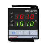 MC101 85~265Vac K Thermocouple Short Shell Input Digital PID Thermostat Temperature Controller Relay+SSR Analog Output for Heat with Alarm