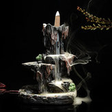 Backflow Incense Cone Burner Censer Holder Mountain Waterfall Stream Home Fragrant Furnace Decor